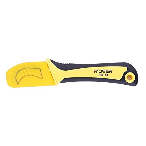 DEWIN Cuchillo para pelar Cables - Cuchillo para pelar Cables de Acero Inoxidable con Mango de Aislamiento, Herramienta de Electricista