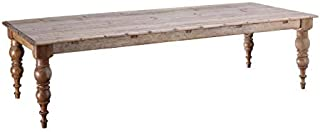 Tousmesmeubles Table de Repas rectangulaire 220 cm Bois Naturel - Kenitra - L 220 x l 100 x H 77 - Neuf
