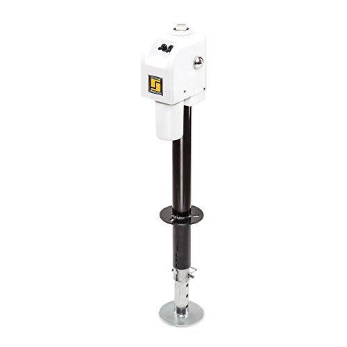 Stromberg Carlson JET-3555 White 3500 lb. Electric Tongue Jack with Light