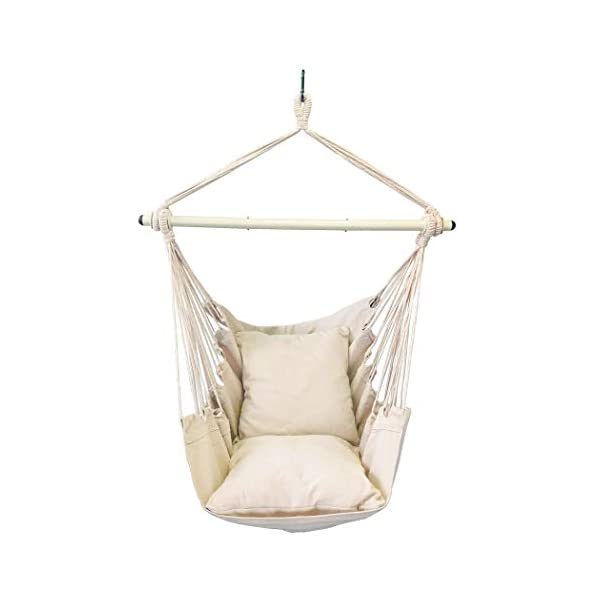 Highwild Hanging Rope Hammock Chair Swing Seat for Any Indoor or Outdoor Spaces –...