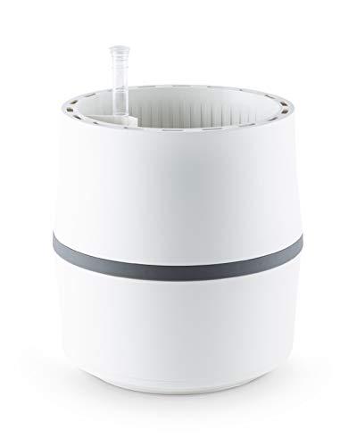 AIRY System S (Ø 22 cm) – Patentiertes System mit der Kraft der Pflanzen als natürlicher Luftreiniger und Luftbefeuchter für Innenräume (Snow White/Stone Grey)