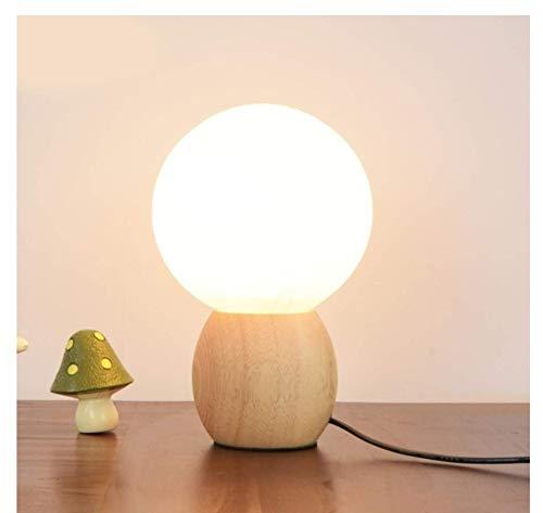 Lampenkap van glas met lampenkap, massief hout voor slaapkamer