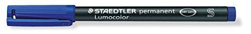 STAEDTLER 313-3 Feinschreiber Universalstift Lumocolor permanent, S, blau