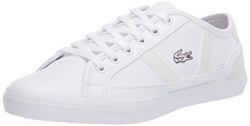 Lacoste Unisex-Kid's Sideline 120 2 CUJ Sneaker, White/Off White, 3.5 Medium US Big Kid