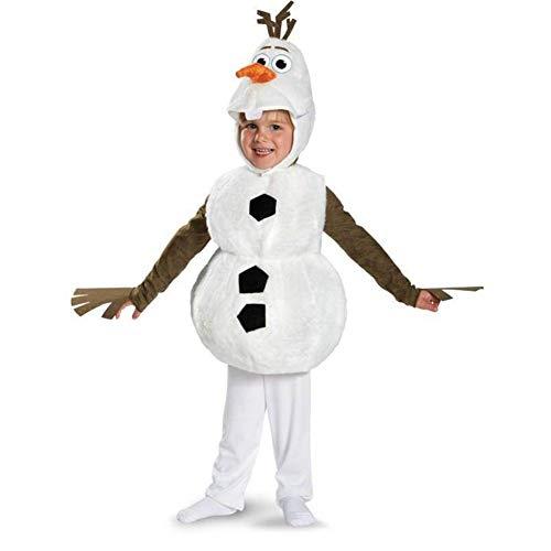 YHX Frozen, Tesoro de Nieve para nios Olaf, Imagen de mueco de Nieve de pelcula de animacin, actuando como Disfraz