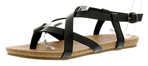 Womens Blowfish Golden Sandals in black.