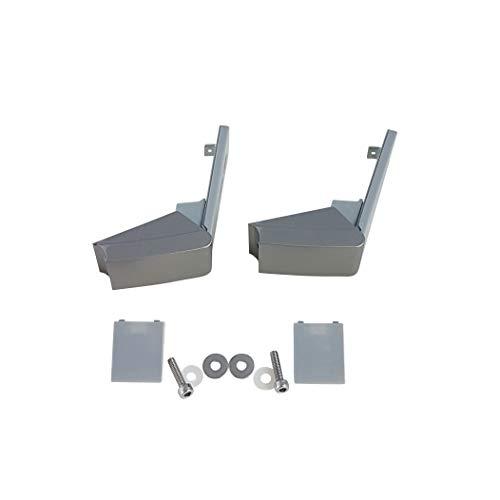 Juego de 2 bisagras para la reparación de frigoríficos Liebherr 9590178 9590190 9590124, acero inoxidable