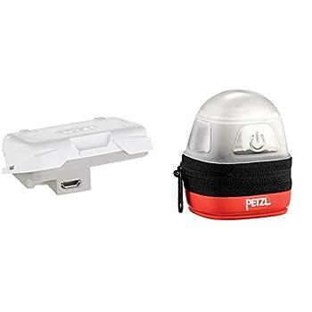 Petzl. Adultes Batterie reactik +, Gris, One Size & NOCTILIGHT - étuis pour équipements (Petzl, TIKKINA, Tikka, ZIPKA, ACTIK, TACTIKKA +RGB, 85 g), Noir/Orange