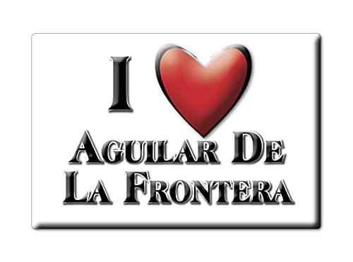 Enjoymagnets Aguilar DE LA Frontera (CO) Souvenir IMANES DE Nevera ESPAÑA ANDALUCÍA IMAN Fridge Magnet Corazon I Love