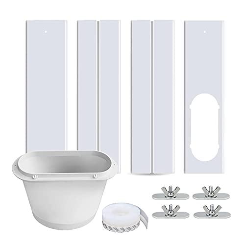 Kit di guide regolabili per finestre e finestre con kit di adattatori per il condizionatore d'aria portatile, accoppiatore per finestre e porte scorrevoli in vetro