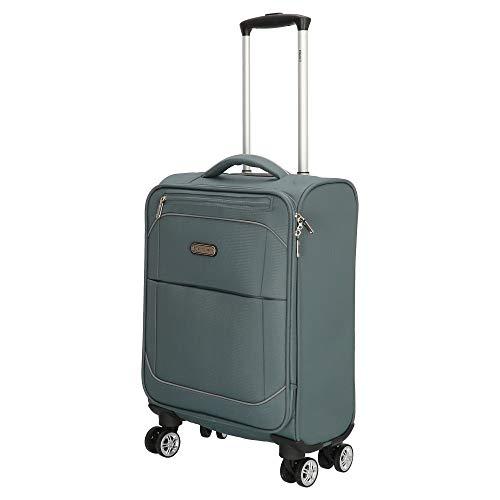 Stoff Koffer Reisekoffer Bowatex Handgepäck Rollen Trolley Leicht Grau M 55cm