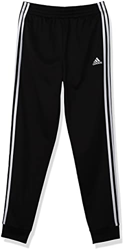 adidas Boys' Big Tricot Jogger Pant, Iconic Black, M (10/12)