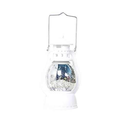 HWTOP Kleine Öllampe Weihnachts Dekorative Lampen USB LED Nachtlicht Ornamente 3D Acryl Zeichen Licht Dekor, Weiß(Weiße Religion)