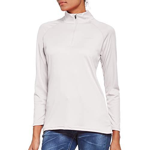Ogeenier Damen Langarmshirt UPF 50+ UV Sonnenschutz, Langarm Laufshirt Sportshirt 1/4 Zip für Training, Wandern, Sport