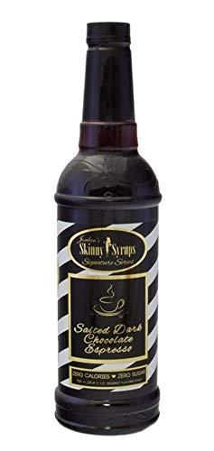 Jordans Skinny Traditional Sugar Free Syrup 750 ml Bottle with a Pump -Salted Dark Chocolate Espresso