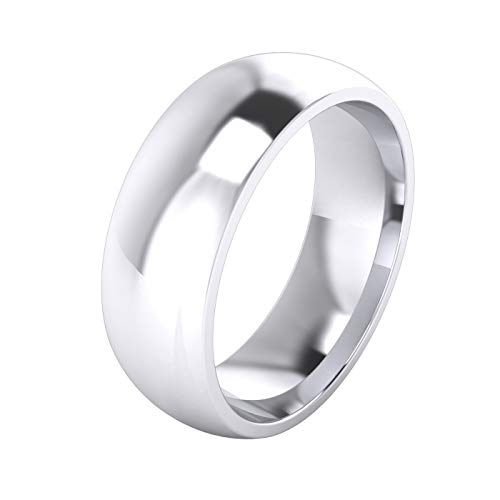 Unisex Sterling Silver 7mm Super Heavy Court Shape Polished Wedding Ring (Q)