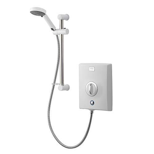 Aqualisa Quartz Electric shower with adjustable head, White, 8.5kW