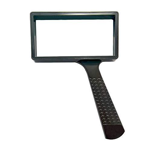 Hand-held Rechthoekig High-definition Vergrootglas-4 Keer Vergroting-lichtgewicht Hand-held Vergrootglas,Krasbestendige…