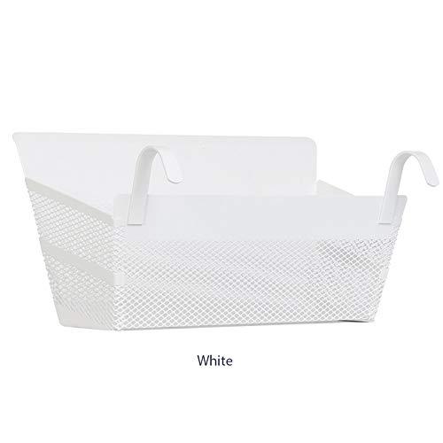 elegantstunning Hauptmultifunktionsmaschendraht-hängender Korb ormitory Nachtlagergestell Weiß