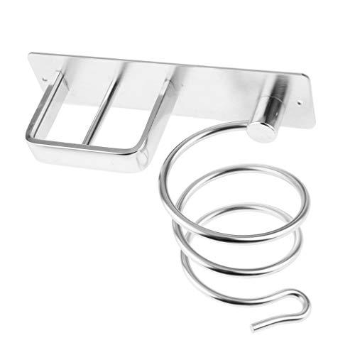 Sharplace Aluminium Fönhalter Fön Halterung Haartrocknerhalter mit Kabelhalter, Praktische und Ideale Aufbewahrung für Badezimmer