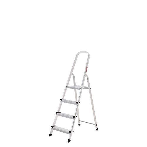 ORYX 23010002 Escalera Aluminio 4 Peldaños Plegable, Uso doméstico,...