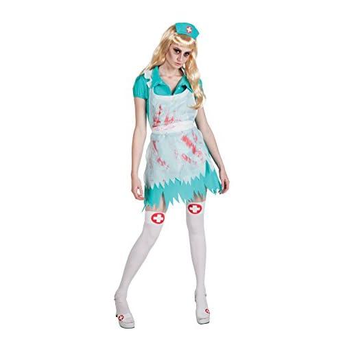 Boland- Costume Adulto Infermiera Horror Bloody Nurse, Verde/Bianco, Taglia 36/38, 79067