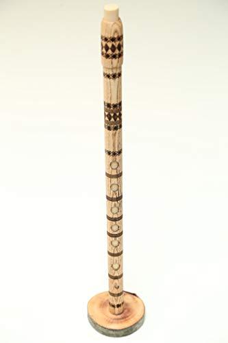 Albanian 7+1-hole Woodwind Flute. Handicraft/La, 39 CM