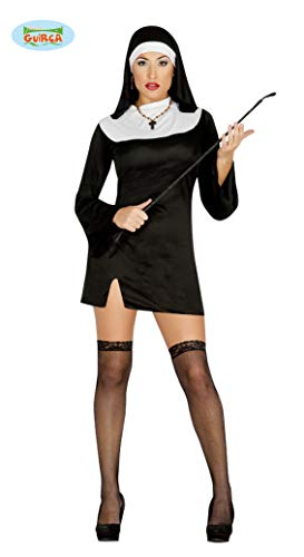 GUIRCA SL.- Costume da Suora Sexy, Colore Nero, 80181