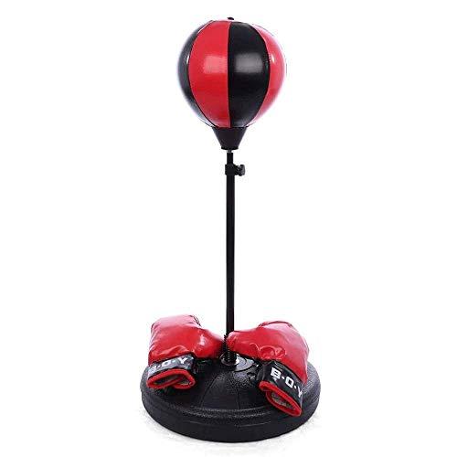 DSHUJC Bolsa de Velocidad de Bola de perforación Independiente, Bola de Boxeo Colgante para niños, el Adulto Puede Levantar el Marco de Boxeo Interactivo Entre Padres
