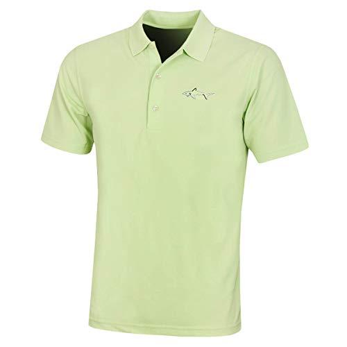 GREG NORMAN Large Logo' Polo Shirt Hommes Micro Piqué - Lime Vert - L