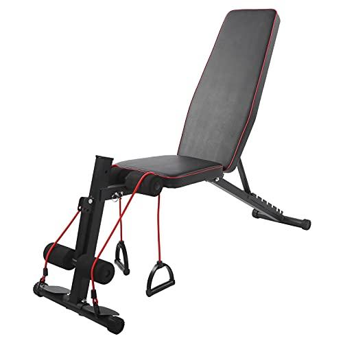 Banco de pesas plegable de múltiples posiciones, altura ajustable, para ejercicios abdominales, levantamiento de pesas, sentado, carga de 150 kg