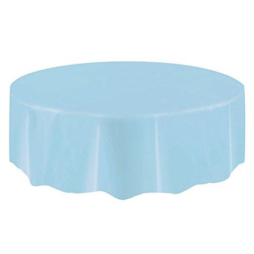 Yzki ronde vorm wegwerp verjaardag tafelkleed kinderen gelukkig verjaardag partij plastic waterdichte tafelkleed benodigdheden