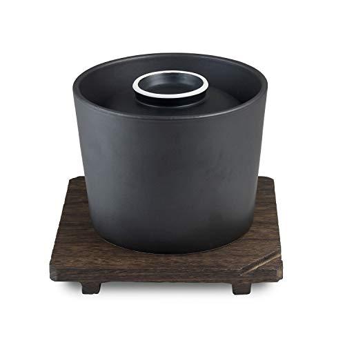 CtoC JAPAN 有田焼 おひつ 炊飯鍋 ブラック 1.5合 日本製 直火 電子レンジ 対応