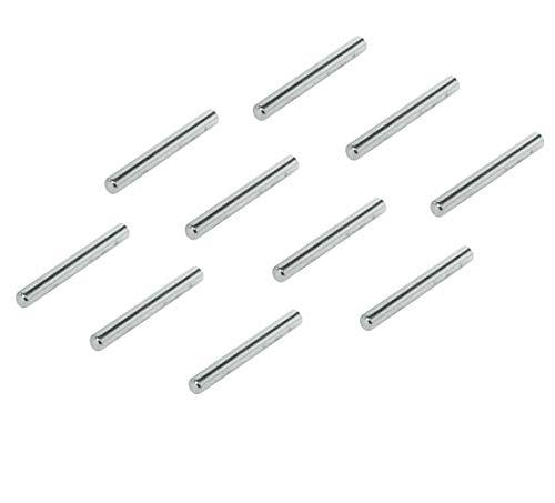Gedotec Regal-Dübel Küche Fach-Bodenträger zum Befestigen Regal-Bolzen zum Einstecken - H3125 | 45 mm | Stahl vernickelt | 100 Stück