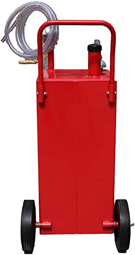 30 Gallon Fuel Transfer Tanks Portable Gas Caddy Fuel Storage Gasoline Diesel Can with Pump for ATVs Cars Mowers