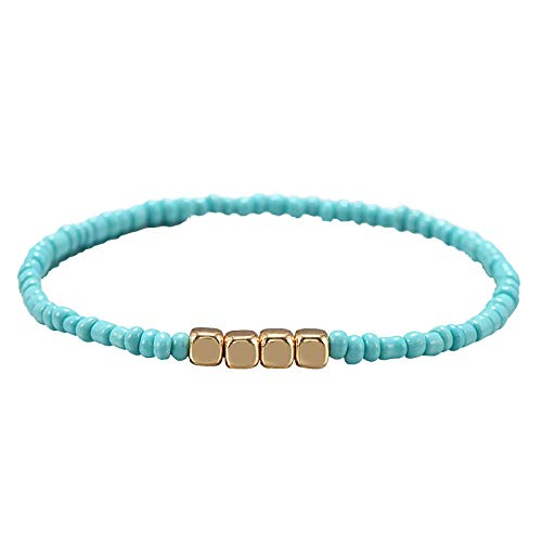 Boho Style Turquoise Bead Bracelet Jewelry Vintage Jewelry for Women and Girls (PIC-2,Free)