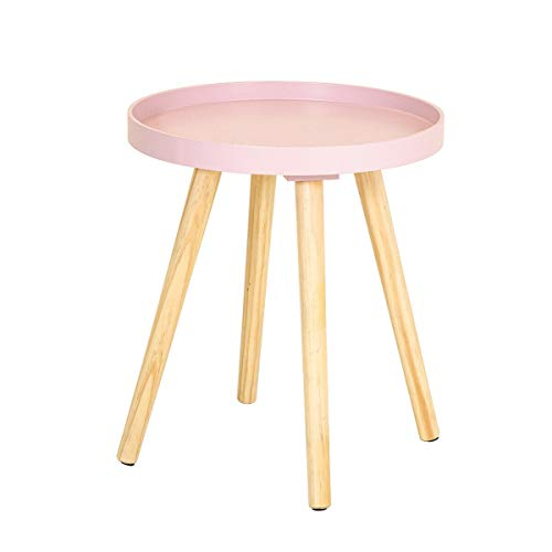 Tray Top Side Table with Pine Legs Blush Living Bed Room Scandi