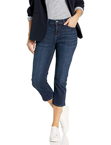 LEE Women's Legendary Regular Fit 5 Pocket Capri Jean, Infinity, 8 Petite