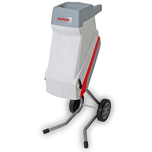 IKRA trituradora de Cuchillas eléctrica IMH 2500, Incl. Saco colector, 45l, 2500W, Incl. Cuchillas Reversibles, Gris y Rojo