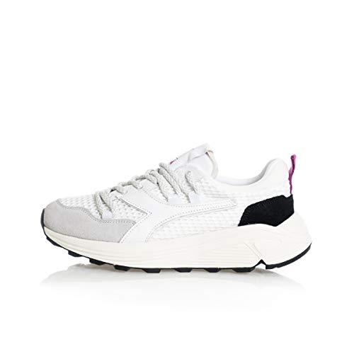 Diadora Heritage Rave Hiking Sneaker Donna 501.176337 C0351 Bianco Nero (Numeric_38_Point_5)