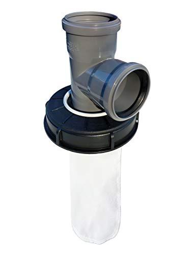 FN-Technik IBC Deckelfilter Regenwasserfilter Deckel DN 150 HT DN 75 Nylon, Artikel:Abzweig