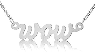 comprar comparacion modabilé Collar de damas Colgante Wow Plata esterlina 925 (42-47cm I 1,2mm de ancho) Collar de plata 925 Oro rosa, bañado ...