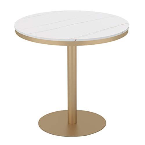 YLMF Runder Tisch, hochwertige Marmortischplatte, Glatte Kanten, Stabiler Sockel, einfach zu montieren, Höhe 75 cm (29,5 in), für Home Kitchen Bistro