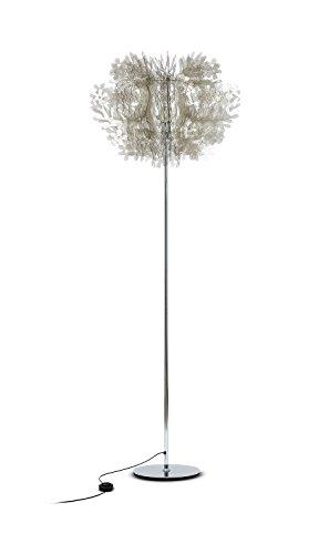Fiorella Kunststoff Stehleuchte Slamp-Leuchten in Fumé   Handgefertigt in Italien   Stehlampe Modern Dimmbar   Lampe E27