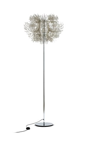 Fiorella Kunststoff Stehleuchte Slamp-Leuchten in Fumé | Handgefertigt in Italien | Stehlampe Modern Dimmbar | Lampe E27