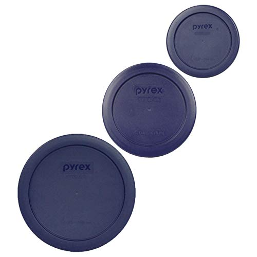 Pyrex (1) 7200-PC 2 Cup (1) 7201-PC 4 Cup (1) 7202-PC 1 Cup Blue Replacement Lids