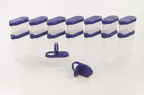 TUPPERWARE Gewürz-Riesen 270ml (8) Gewürzbehälter+ Gewürz-Zwerge 120ml (8) blau
