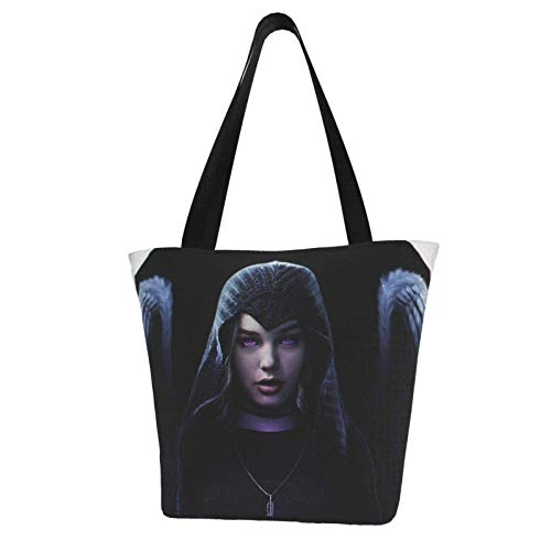 R-aven Comics Teen Tit-a-ns Totes Carry Bag- Women's Shoulder Handbags Big Capacity Shopping Bag Canvas Handbags Casual Ladies for Shopping Purse portable webbing is strong and durable