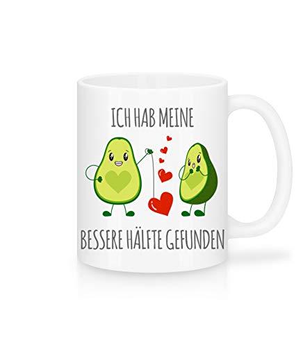 Shirtinator Geschenktasse Avocado Meine bessere Hälfte I Geschenke Valentinstag Jahrestag Geburtstag Liebe Hochzeitsgeschenk-e I Keramik 325 ml