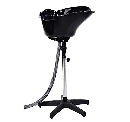 ZLSN Lavacabezas portátil inclinable, Salon MóvilConvierte Cualquier Cama, Altura Regulable y Tubo de desague, para Uso Profesional en Salones de peluquería o Uso doméstico